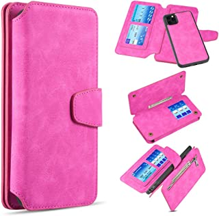 """Flip Wallet Case Detachable Magnetic Clutch Cover Shock Protection Case with Money Pocket Compatible for iPhone 12 (6.1"""") ..."""