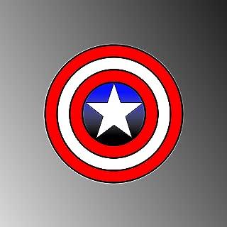 CAPTAIN AMERICA SHIELD BUMPER STICKER DECAL 6