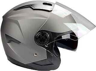 BNO Jethelm mit Langvisier Jet300 Motorradhelm Roller Helm Schutzhelm Matt Schwarz (S XXL) (M)