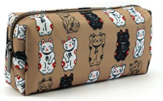 Lucky Japanese Cat Pencil Case Cute Maneki Neko Cat Pencil Bag Pouch Case Makeup Cosmetic Bag Kawaii Gadget Box Stationary
