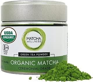 Matcha Green Tea Powder Ceremonial Grade 40g – USDA Organic   1st Harvest Premium Matcha From Uji – Matcha Wellness