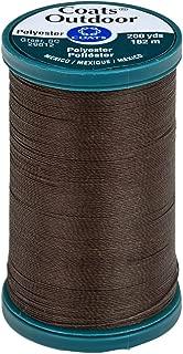 Coats Outdoor Living Thread, 200-Yard, Dark Brown