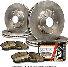 (F+R Full Kit)4 OEM Replacement Extra-Life Heavy Duty Brake Rotors + 8 Ceramic Pads(Works with Dodge Ram)(8lug)-Combo Brake Kit