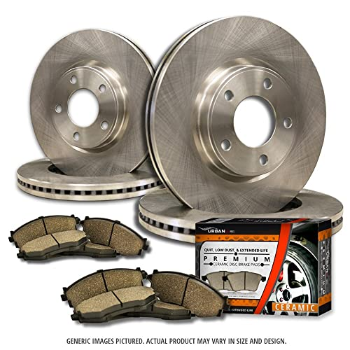 2006 2007 2008 For Honda Pilot Coated Front Disc Brake Rotors and Ceramic Pads