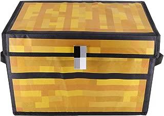 【予約500円割引 3280→2780 】Minecraft マインクラフト チェスト マイクラ グッズ ふた付収納ケース/簡易整理箱/持ち運びおもちゃ入れ