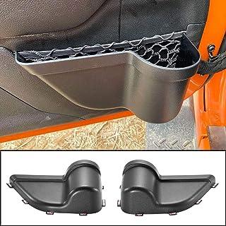 CALBEAU Front Door Side Insert Storage Pockets Box, Door Storage Pockets for JK, Door Net Pocket Replacement for 2011-2018 Jeep Wrangler JK JKU 2/4-Door(2020 Upgraded Version)