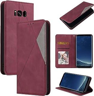 LODROC Lederen Wallet Case voor Galaxy S8, [Kickstand Feature] Luxe PU Lederen Wallet Case Flip Folio Cover met [Card Slot...