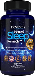 Dr. Scott's Natural Sleep Aid | from Sleeplessness to Restfulness with 5 Mg Melatonin, Theanine, Magnesium, Tryptophan, Va...