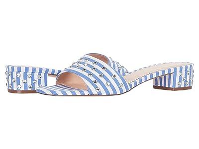 J.Crew Flora Slide Stripe w/ Studs (Blue/White) Women