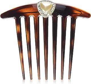 Caravan Twist Comb with Diamond Decoration of Swarovski Rhine Stone, 0.5 Ounce