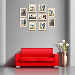 ArtzFolio Wall Photo Frame D449 Natural Brown 4x6inch;Set of 10 PCS