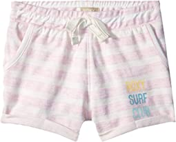 Roxy Kids Laugh and Love Stripe Shorts (Toddler/Little Kids/Big Kids)
