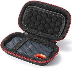 Hard Case for SanDisk 250GB / 500GB / 1TB / 2TB Extreme Portable SSD SDSSDE60, Carrying Storage Bag - Black(Black Lining)