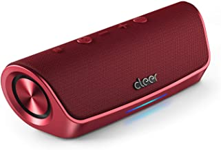 Cleer Stage Amazon Alexa Enabled, Portable Bluetooth Wireless Speaker - Red