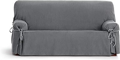 Eysa Loira Protect Imperméable et Respirant Housse de canapé 65% Polyester 35% Coton, Gris, 180-230 cm
