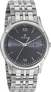 ساعة رسمية للرجال من تيتان 1636SM01 ، فضي