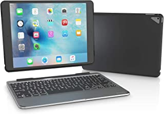 ZAGG Slim Book Ultrathin Case, Hinged with Detachable Bluetooth Keyboard for Apple iPad Pro 9.7 - Black