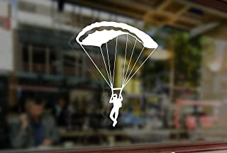 25 Centimeters Skydiving Parachute Jump Vinyl Stickers Funny Decals Bumper Car Auto Computer Laptop Wall Window Glass Skateboard Snowboard