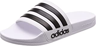 adidas Men's CF Adilette Shoes, Footwear White/Core Black/Footwear White