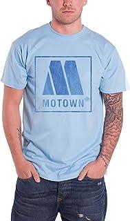 Motown モータウン Tシャツ Vintage Distressed Logo ヴィンテージ・ディストレスト・ロゴ 公式 メンズ ブルーtシャツ 全サイズ