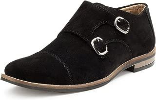 Escaro Everyday Wear Men's Suede Black Casual Monk Shoes