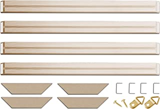DIY Solid Wood Canvas Frame Kit 12 Inch x 4PCs for Oil Painting & Wall Art, Customized Wooden Art Frames for Paintings & Canvases, Easy to Build Canvas Stretching System, Framed Picture Accessories