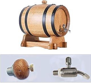 3L / 5L / 10L Tonneau de Vin Vendange en Bois de Chêne Bois vin Barrel Distributeur, for Fine Wine Beer Brandy Whisky Tequ...