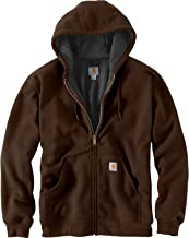Carhartt Men's Rain Defender Rutland Thermal Lined Hooded Zip Front Sweatshirt