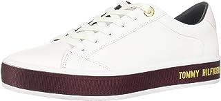 حذاء سنيكرز تي اتش، من الجلد بتصميم كاجوال، للنساء من تومي هيلفجر