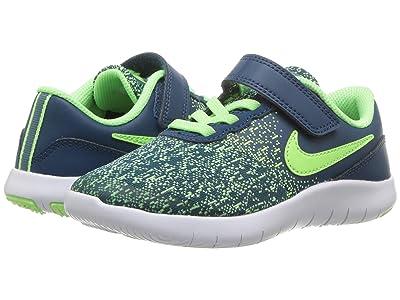 Nike Kids Flex Contact (Little Kid) (Blue Force/Lime Blast/Barely Volt) Boys Shoes