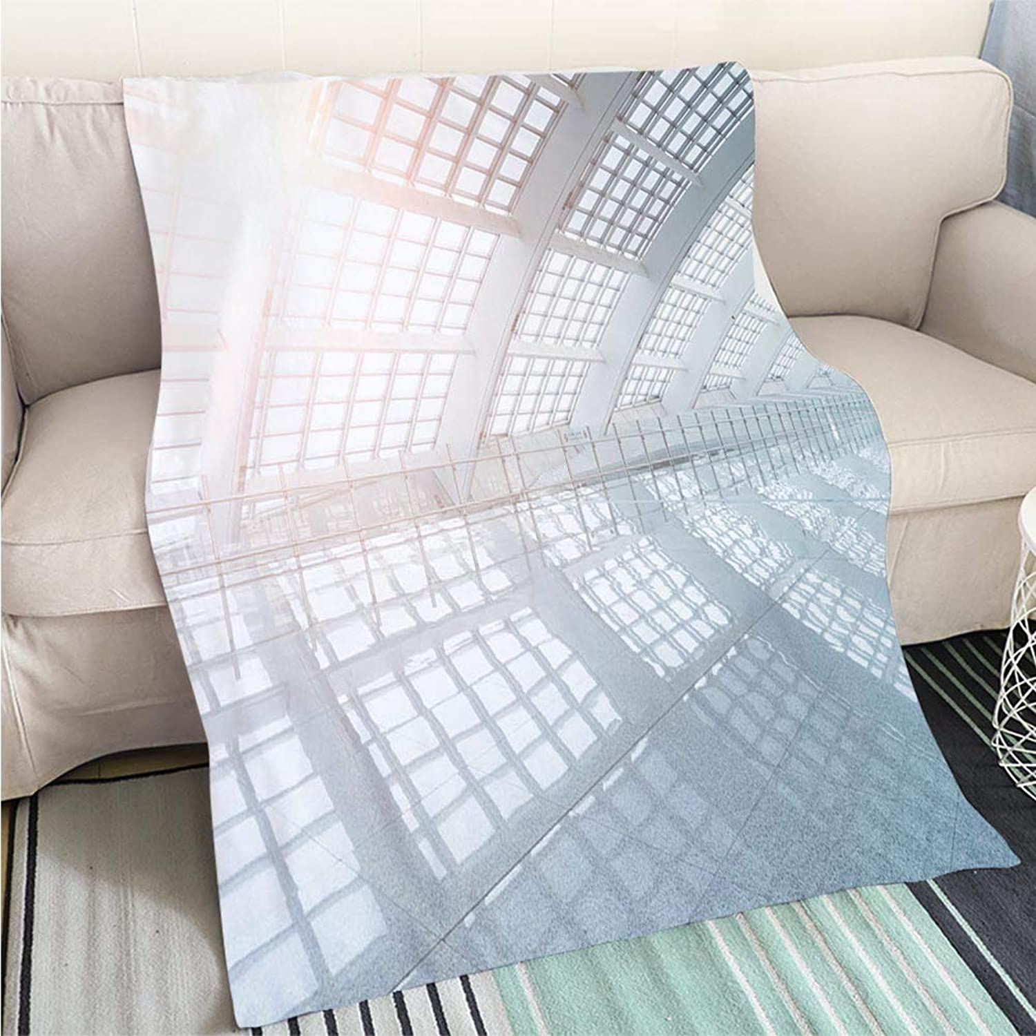 BEICICI Comforter Multicolor Bed or Couch Modern Airport Interior Living Room Bedroom Warm Blanket