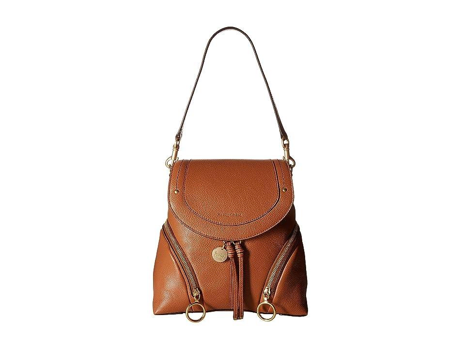 See by Chloe Olga Medium Backpack (Caramello) Backpack Bags