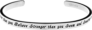 You are Braver Than You Believe Stronger Than You Seem and Smarter Than You Think Cuff Bangle Bracelet
