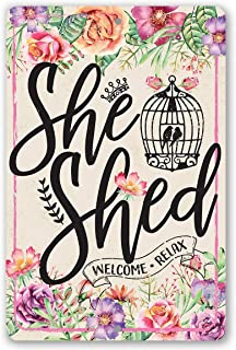 She Shed - Pink - Durable Metal Sign - 8