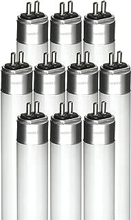 Sunlite 6500K Daylight 4'/25W/IS/65K/10PK LED 25W 4 Foot Instant Start T5 Tube Fixtures, 180 Light, G5 Base, 10 Pack, 6500K-Daylight