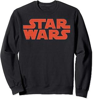 Star Wars Red Classic Title Logo Left Chest Sweatshirt
