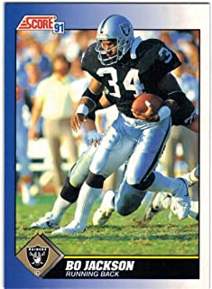 1991 Score & Rookie Traded Los Angeles Raiders Team Set with Bo Jackson - Marcus Allen & Howie Long - 30 NFL Cards