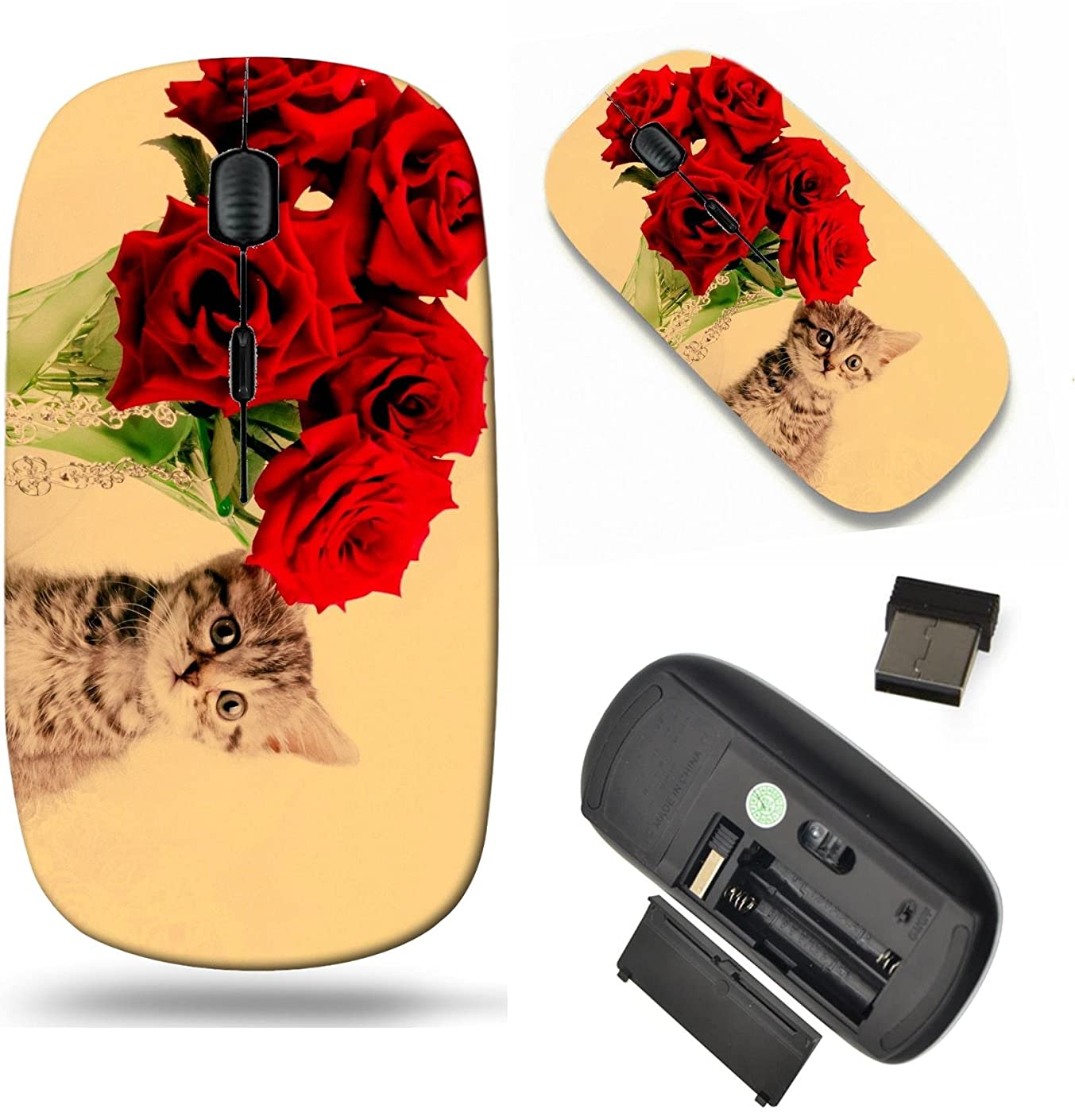 MSD Wireless Mouse Travel 2.4G Wireless Mice with USB Receiver, Noiseless and Silent Click with 1000 DPI for Notebook, pc, Laptop, Computer, mac Book Design 20607398 Beautiful Scottish Young cat