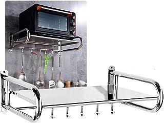 ajustable versi/ón gruesa extra/íble 201 normal plata estante plegable de cocina Soporte de pared para microondas soporte para horno acero inoxidable