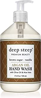 Deep Steep Argan Oil Liquid Hand Wash, Brown Sugar Vanilla, 17.6 Fluid Ounce