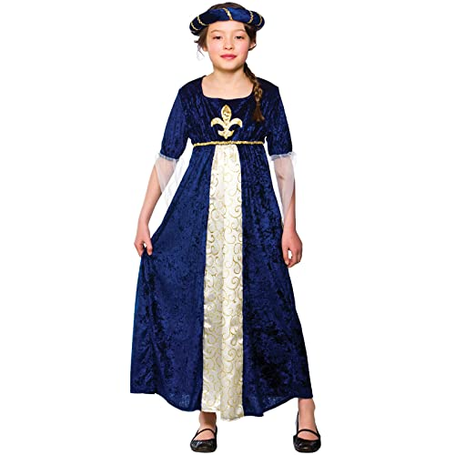 Marvelous (L) Girls Tudor Princess Costume For Medieval Fancy Dress Childrens Kids  Childs