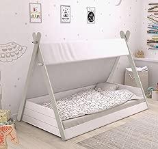 Cama Infantil Tipi diseño Tienda India Unisex Cama niños de Cuento 140x220x113 cm Incluye somier
