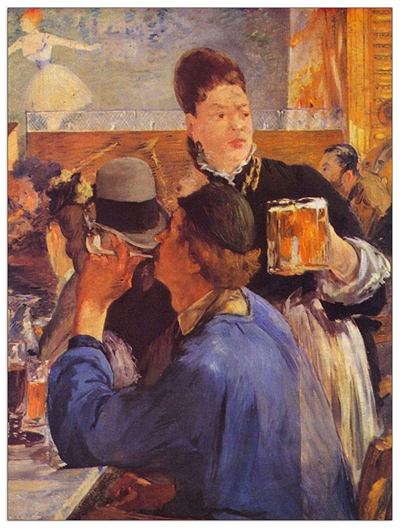 ArtPlaza TW92216 Manet ?douard-Beer Waitress Decorative Panel 27.5x35.5 Inch Multicolored