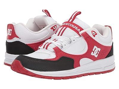 DC Kids Kalis Lite (Big Kid) (White/Black/Athletic Red) Boys Shoes