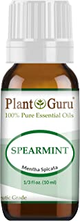 Spearmint Essential Oil 10 ml 100% Pure Undiluted Therapeutic Grade for Aromatherapy Diffuser, Promotes Digestion, Great for Focus and Concentration