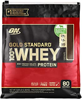 Optimum Nutrition Gold Standard 100% Whey Protein, 80 Servings - Chocolate