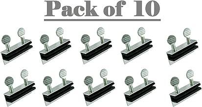 (Pack of 10) Aluminum Double Thumb Screw Turn Patio Sliding Door and Window Lock