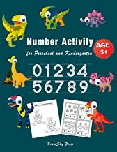 Number Activity: Essential Writing Practice for Preschool and Kindergarten, Ages 3-5, 6-8, 1 to 50 Numbers Tracing with Dinosaurs, Number Exercises, ... for Counting, Count Card Activity Book