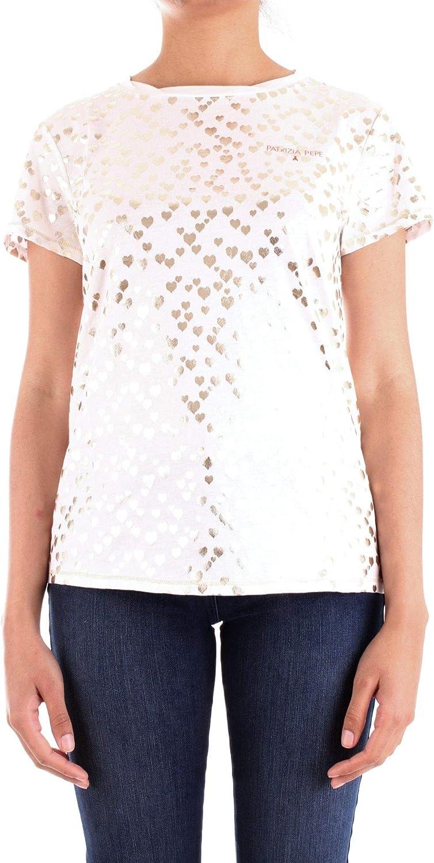Patrizia Pepe Women's 8J0847A4V5W126 White Cotton TShirt