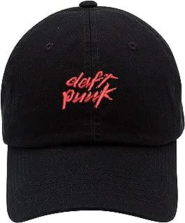 TOP LEVEL APPAREL Daft Punk Logo Low Profile Embroidered Unisex Baseball Dad Hat
